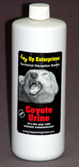 Coyote urine strikes fear into the hearts of gophers & moles!