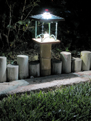 Birdfeeder LED Yard Light, Night.